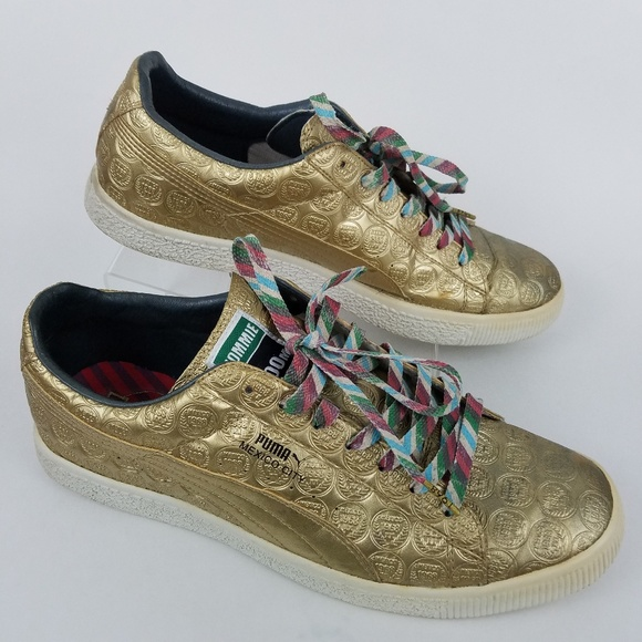 new styles ffdf9 6c36f Rare Puma X Tommie Smith Mexico City Gold Sneakers